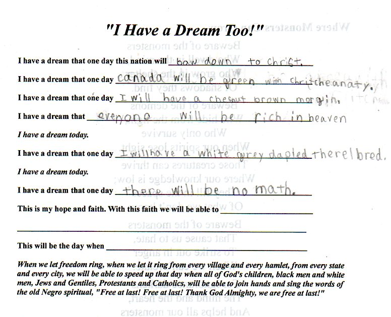 metaphors in i have a dream speech essay