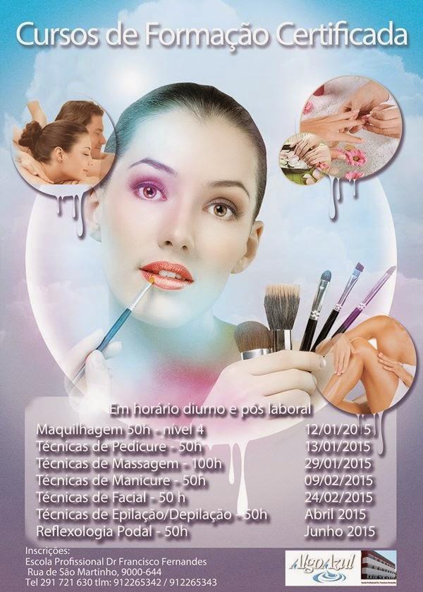 Formação certificada no Funchal (massagem, manicure, epilação / depilação)
