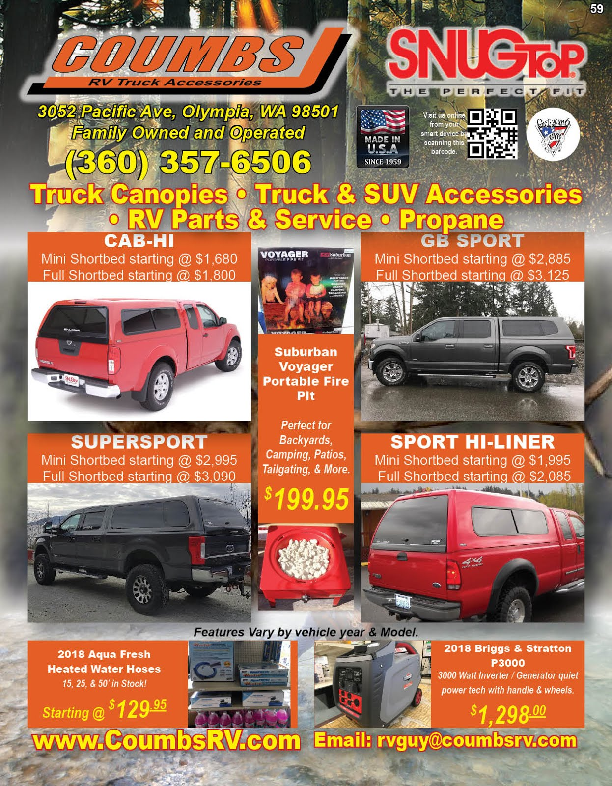 "Coumbs RV & Truck Accessories ""Proud Sponsor of Got Your 6"" Vets Helping Vets!!"