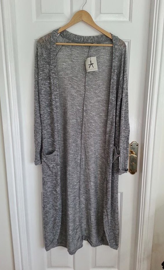 long grey cardigan primark