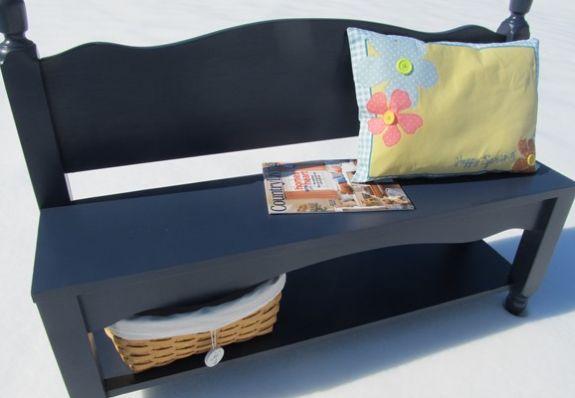 Banco reutilize madeira de cama