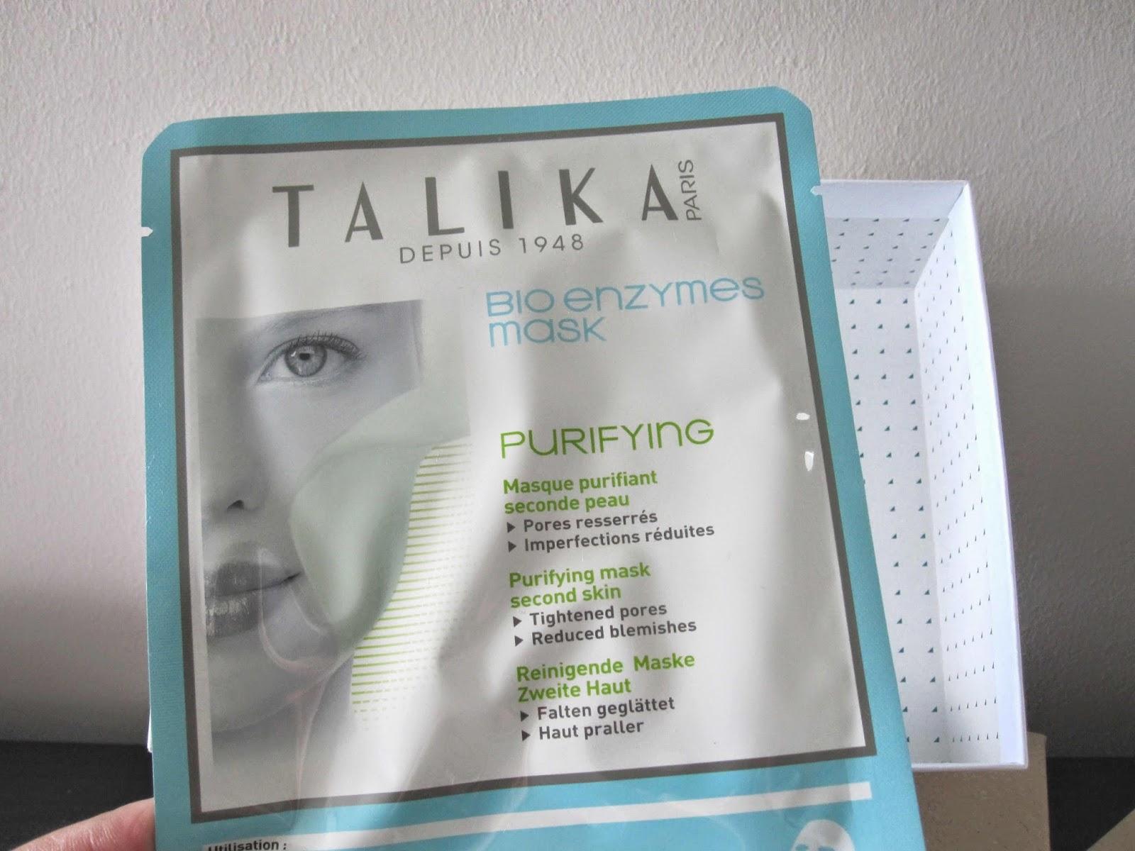 masque enzymes de talika