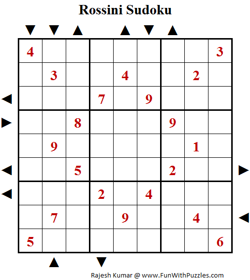 Rossini Sudoku (Daily Sudoku League #138)