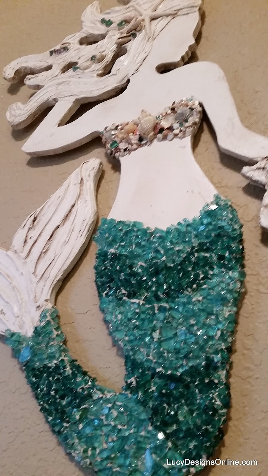 mermaid with glass mosaic tail
