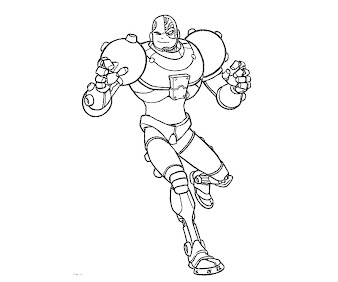 #4 Cyborg Coloring Page