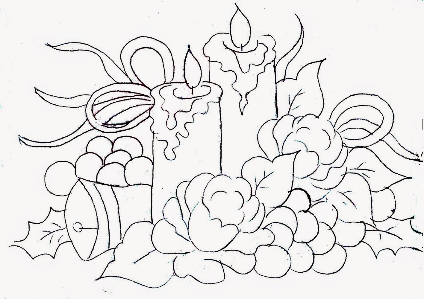 [PDF]Desenhos para colorir – Velas de Natal KatiaChedid - imagens para colorir de velas de natal