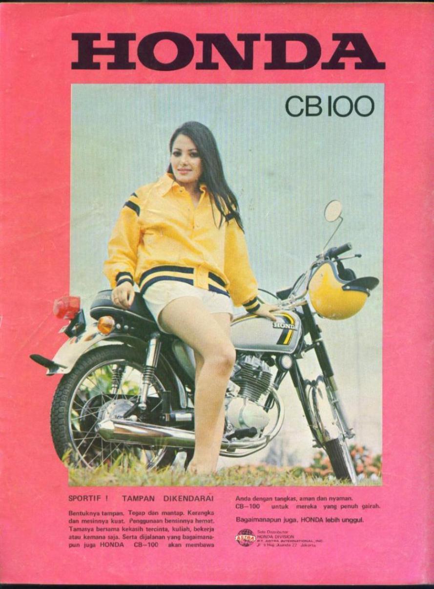 Iklan motor Honda CB 100