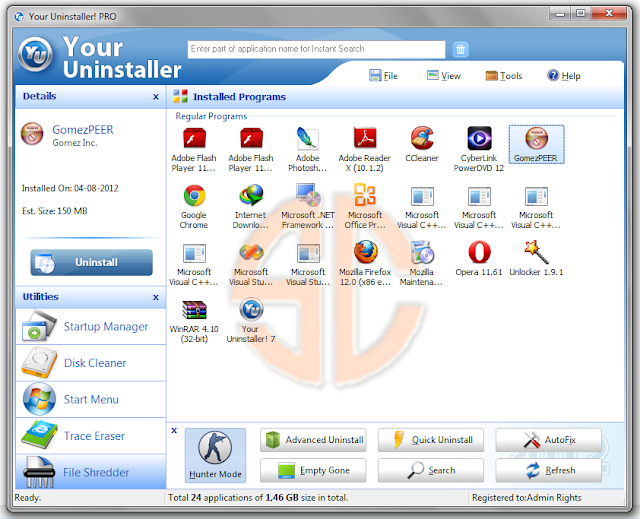 Uninstaller Pro 7.5 full key
