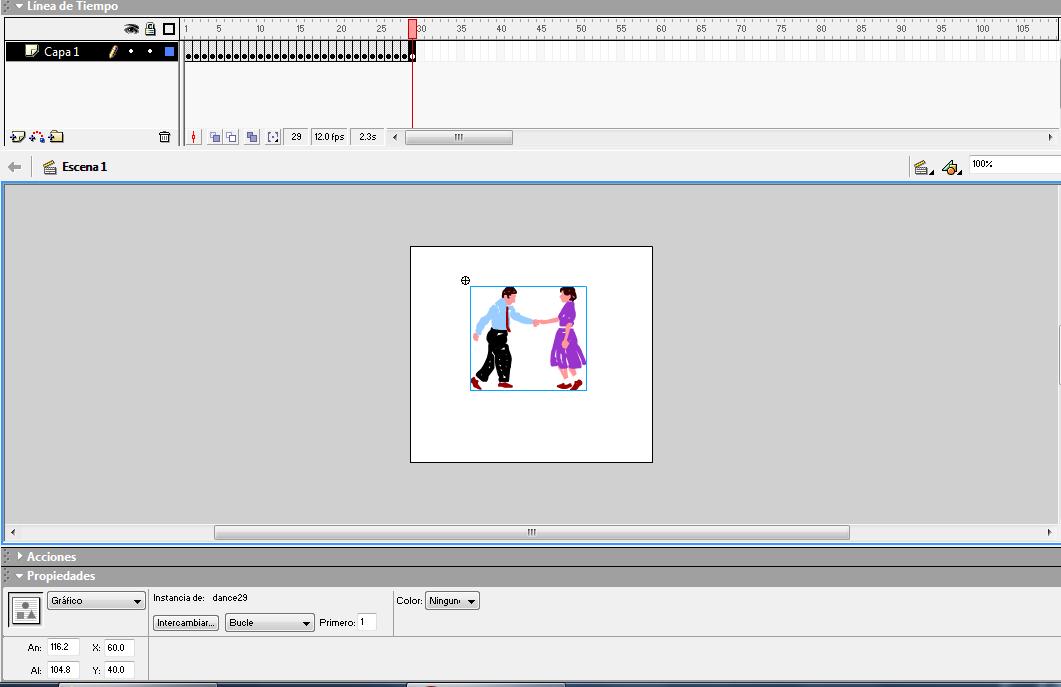 Mis apuntes de informática: Animación fotograma a fotograma FLASH