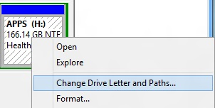 Change Drive Letters and Paths