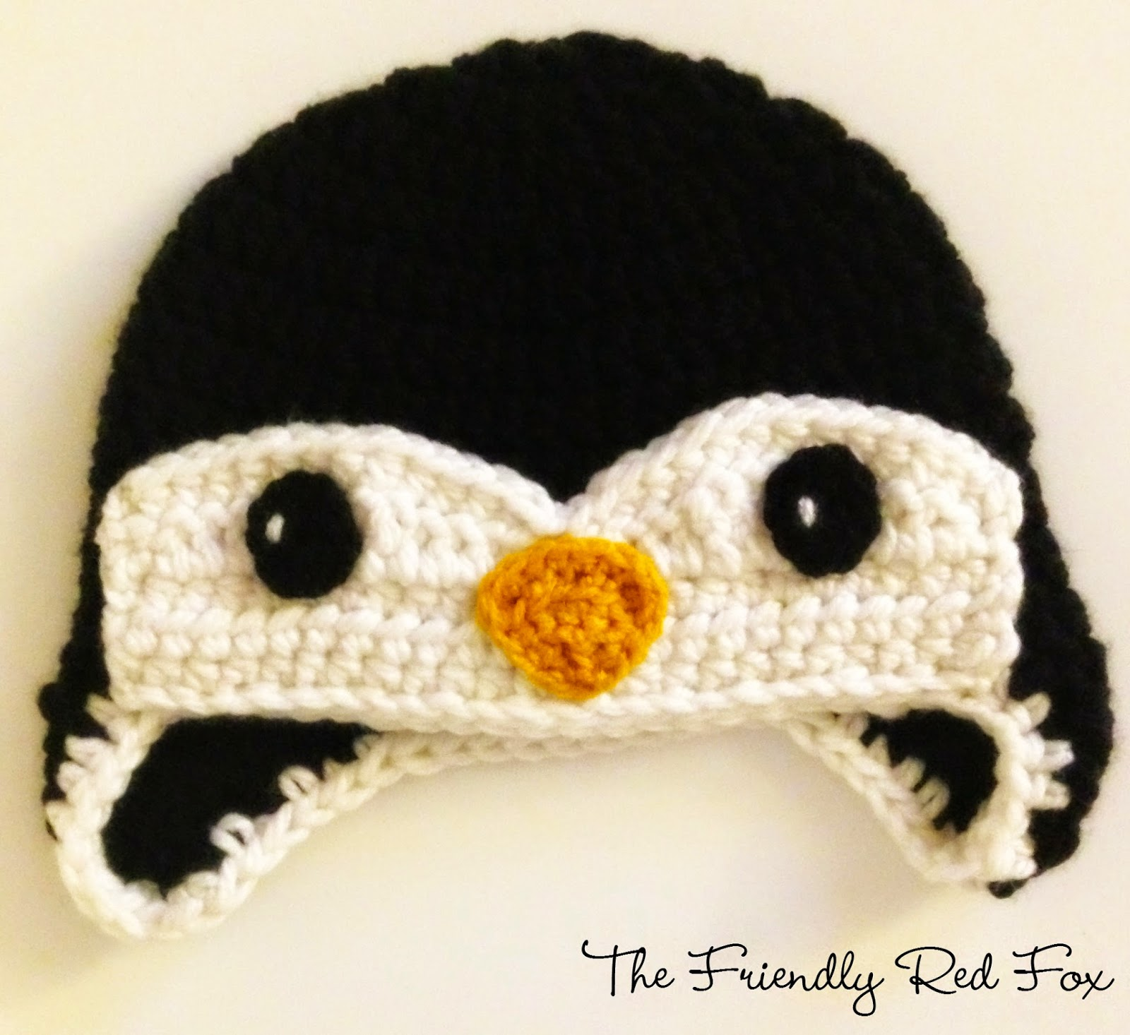 Free Penguin Crochet Hat Pattern - thefriendlyredfox.com