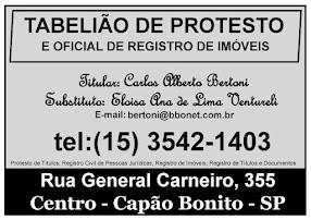 TABELIÃO DE PROTESTO E OFICIAL DE REGISTRO DE IMÓVEIS