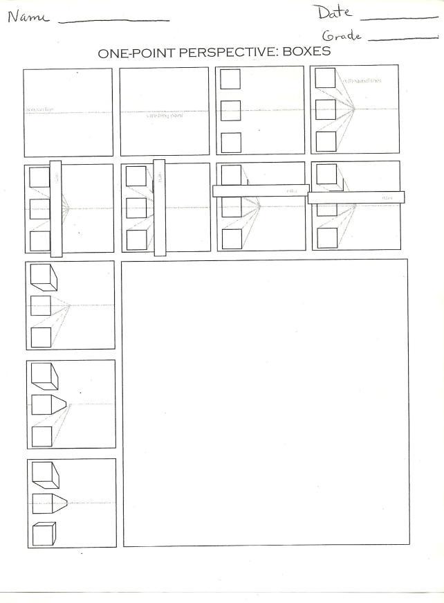 CICS Bucktown Art Perspective How To Worksheets – Perspective Worksheets