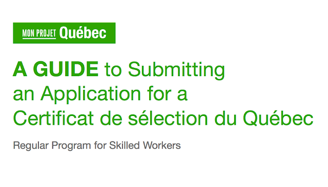 Guide in Submitting an Application for Quebec Selection Certificate