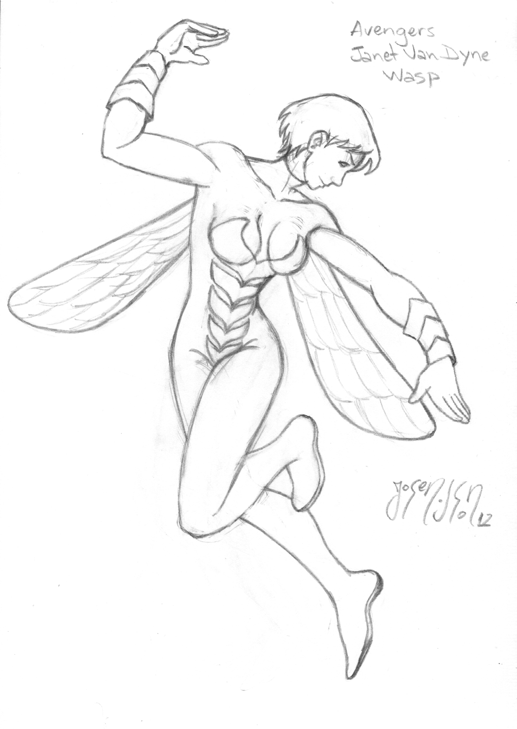 Avengers Wasp Coloring Pages : Avengers wasp free colouring pages