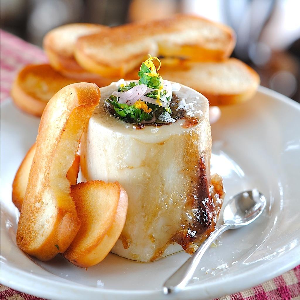 JULES FOOD...: Roasted Bone Marrow with Tarragon Orange Gremolata and ...