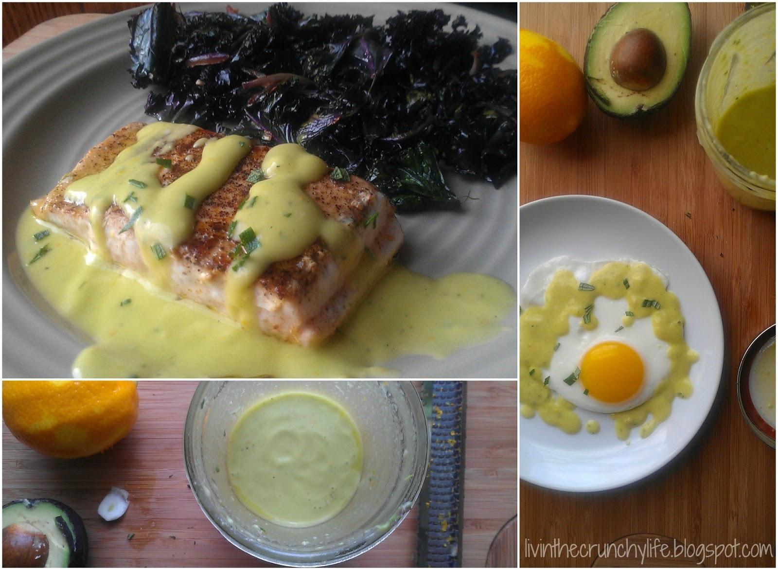 Pan-fried Salmon with a Creamy Meyer Lemon Vinaigrette (egg/dairy-free)