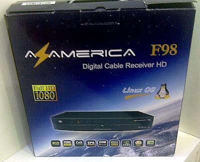 configuração azamerica f98 hd