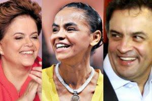 Marina empata com Aécio no 1º turno e com Dilma no 2º, diz Datafolha.