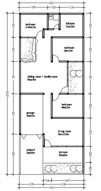 Small width house plans modern house for Home design 8x16