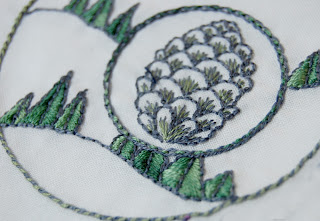 pinecone embroidery pattern