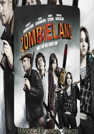 Poster Of Zombieland (2009) Full Movie Hindi Dubbed Free Download Watch Online At worldfree4u.com