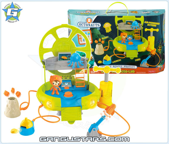 the Octonauts オクトノーツ Shellington Deep Sea Octo Lab Fisher-Price toys シェリントン Midnight Zone