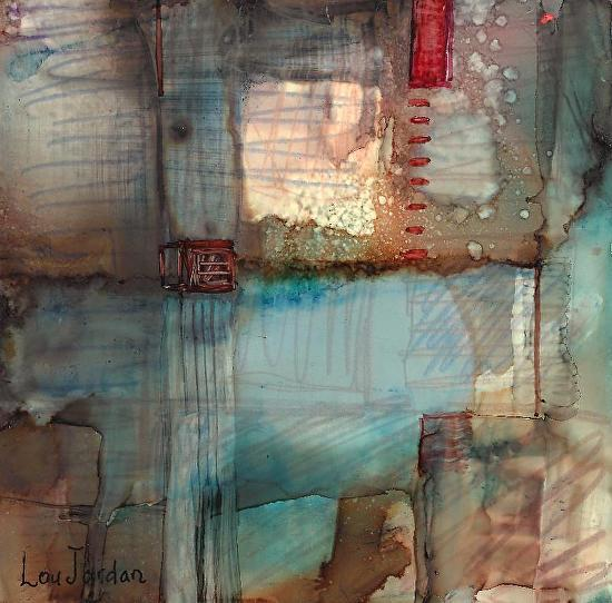"Lou Jordan Fine Art: ""Stitch"" Original Contemporary ..."