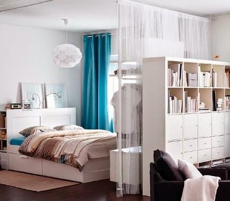 Minipisos y espacios peque os separaci n de espacios for Ideas para separar ambientes pequenos