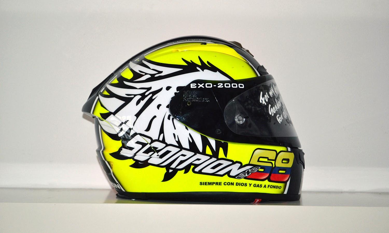 racing helmets garage scorpion exo 2000 air y hernandez. Black Bedroom Furniture Sets. Home Design Ideas