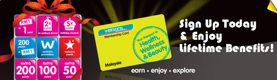 Sign up membership card Watsons