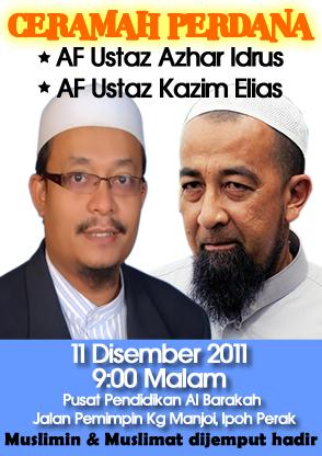 Ceramah Perdana Ustaz Azhar Idrus & Ustaz Kazim Elias