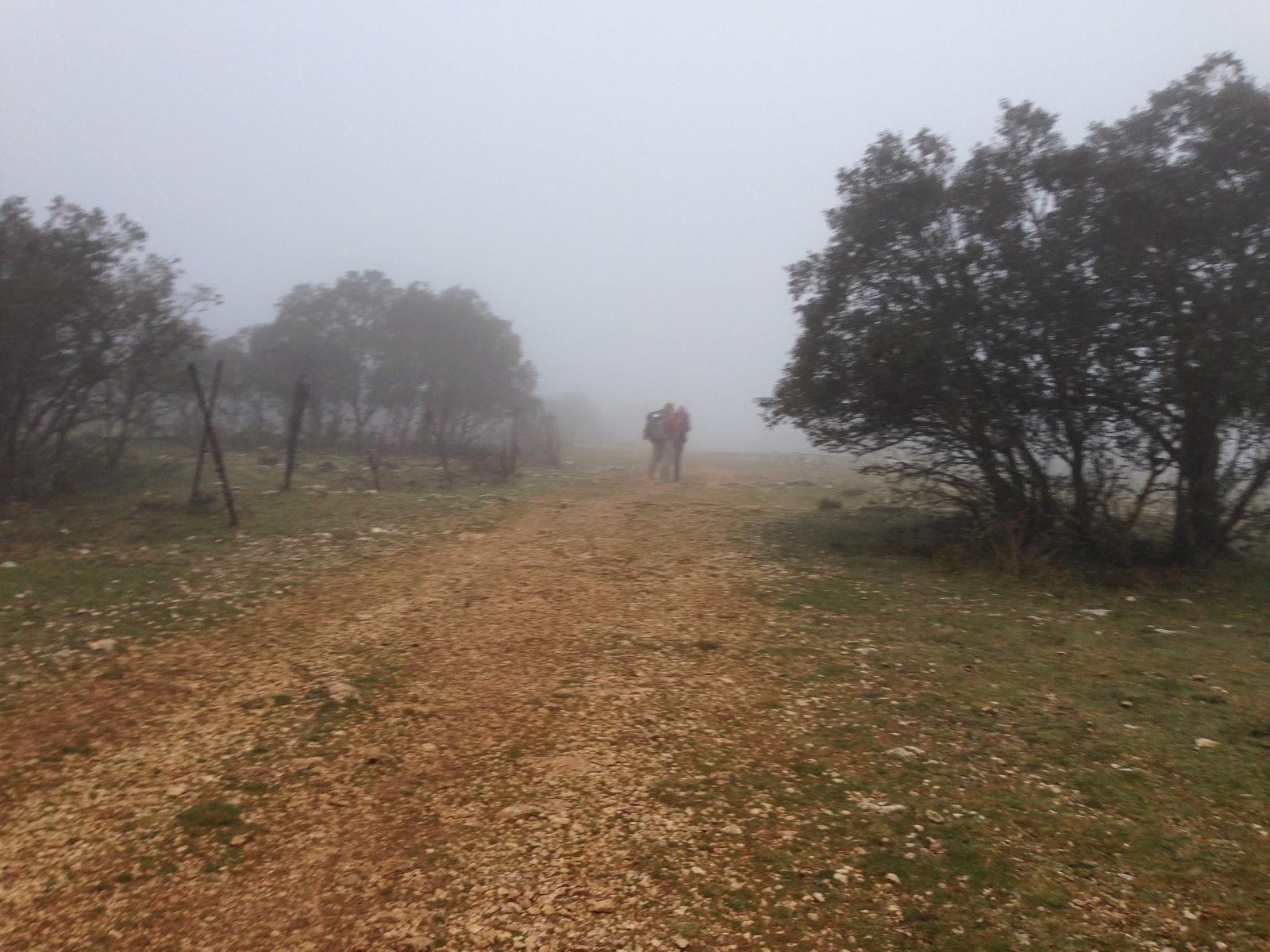 Through hazy eyes april 2014 pilgrims in the early morning fog sciox Choice Image
