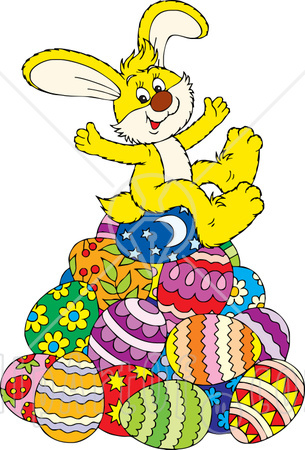 cute easter bunny cartoon pictures. easter bunnies eggs and chicks