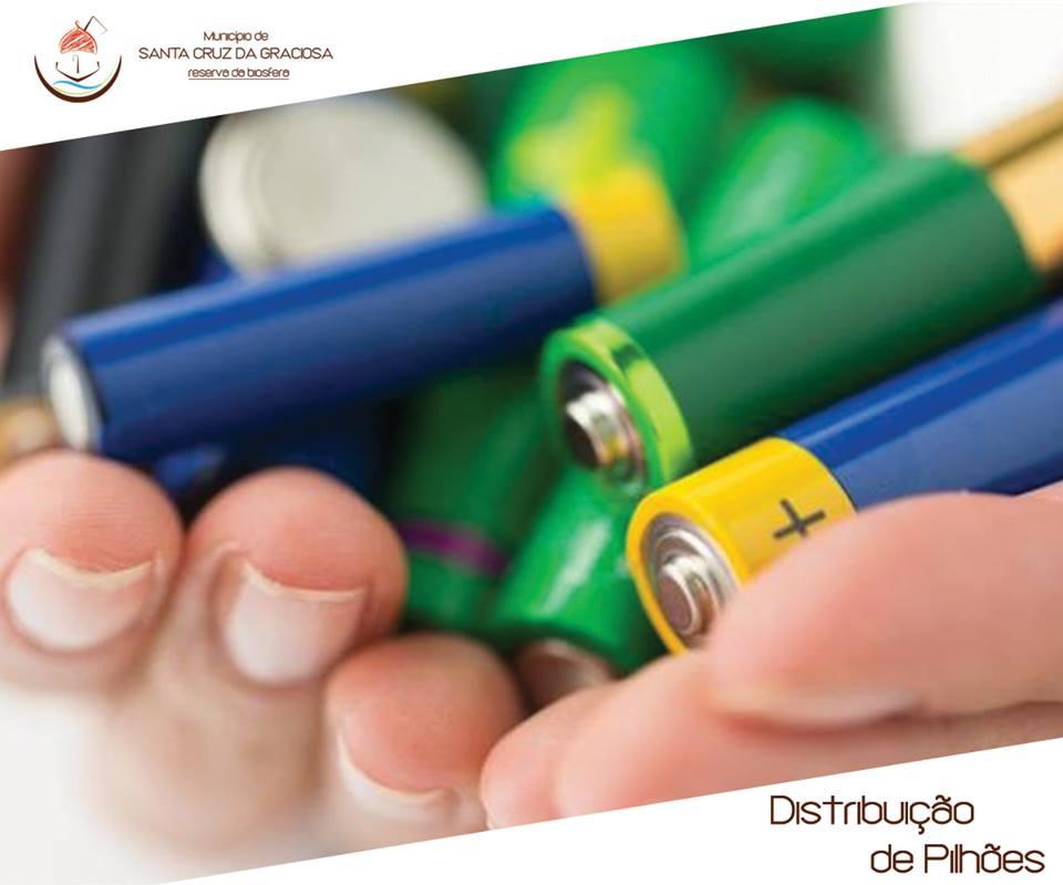 Contentores para entrega de pilhas e baterias- Pilhões