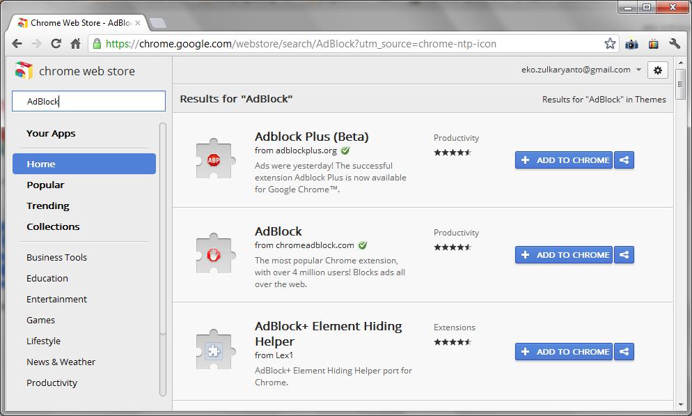 Klik Add to Chrome untuk menginstall ke Google Chrome Anda dan ...