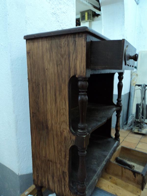La Molinera Rastrillo: Reparación de una consola de pino de dos ...