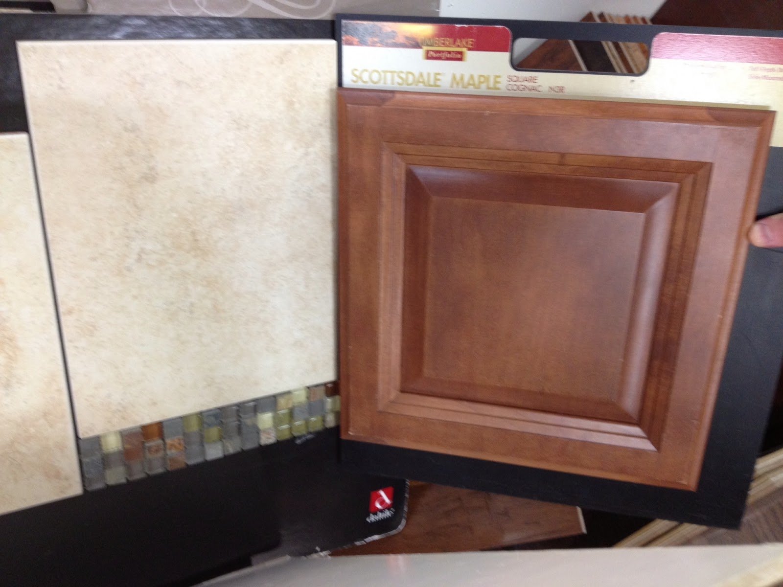 Ryan Homes Maple Cognac Cabinets