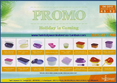 Promo Tulipware November - Desember 2013 | 2 Free 1