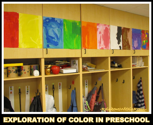 photo of: Color Paintings in Preschool via RainbowsWithinReach