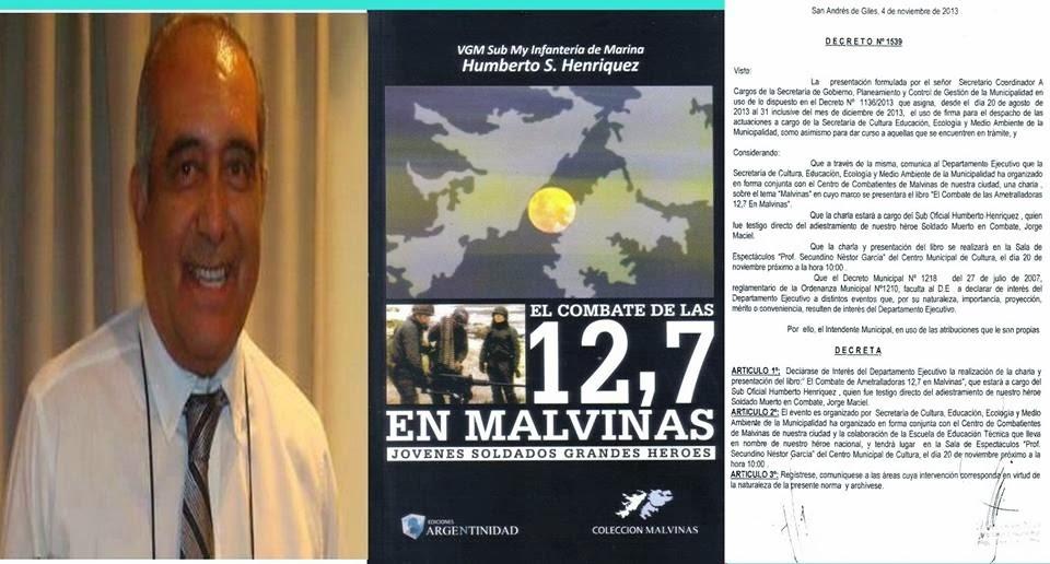 Donde Pueden Adquirir el Libro.-Combates de las  12.7 en Malvinas ..