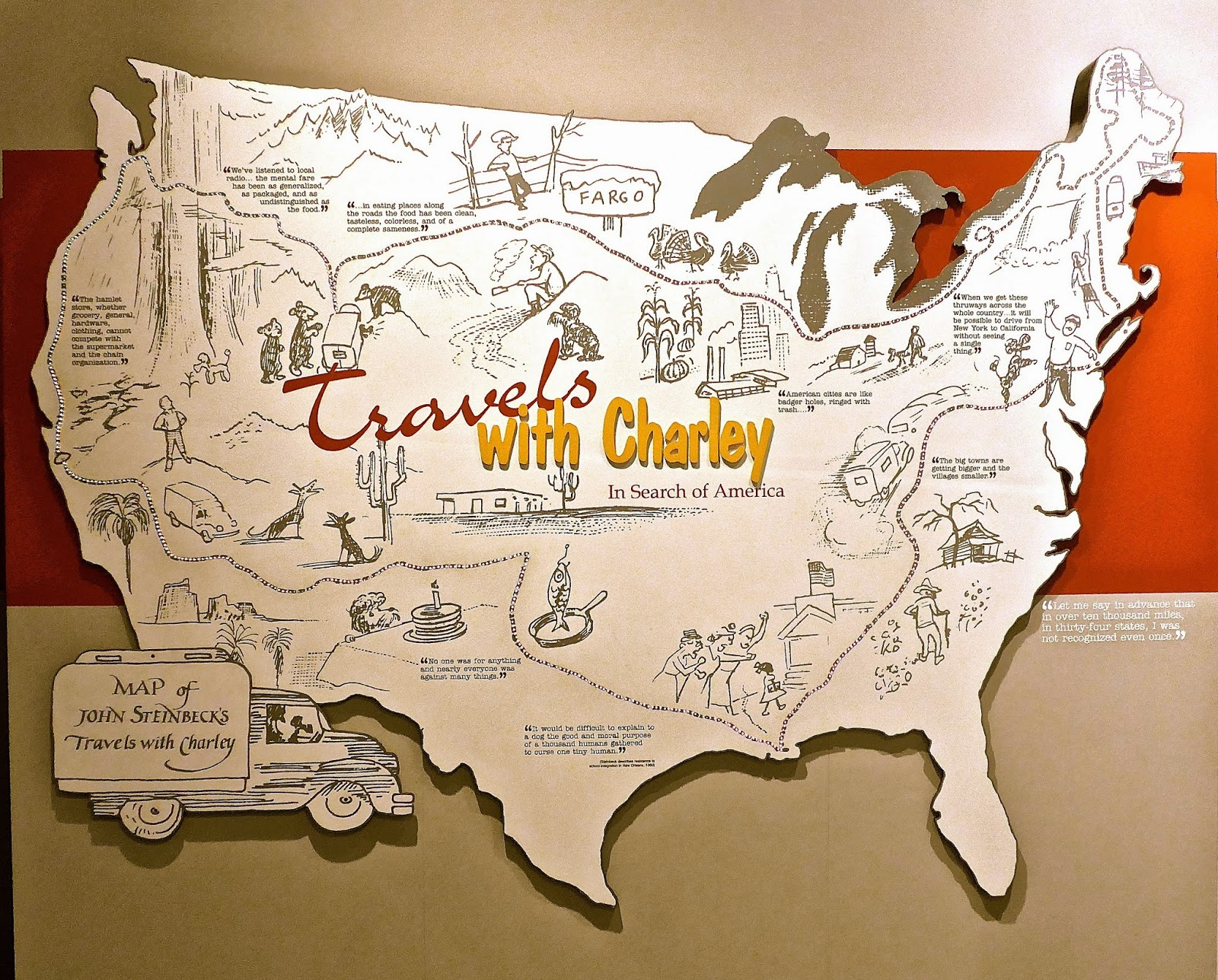 Clubhouse on Wheels May 2014 – Travels With Charley Map