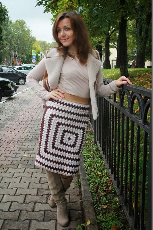 выкройка креативной юбки: