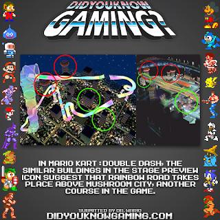 mario kart double dash fact Random Game Facts   Mario Kart; Double Dashs Rainbow Road