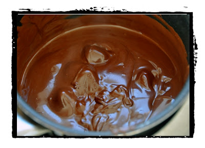 making chocolate pralines