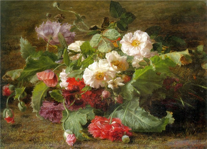 Gerardina Jacoba Van de Sande Bakhuyzen 1826-1895 | German Still life painter