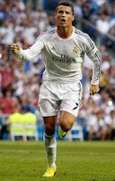 Cristiano Ronaldo con el Real Madrid ante el Getafe.