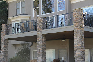 wrought iron railings, deciron, decorative iron, knuckle railing, iron railings, deck railings, lake norman, welding, ornamental iron