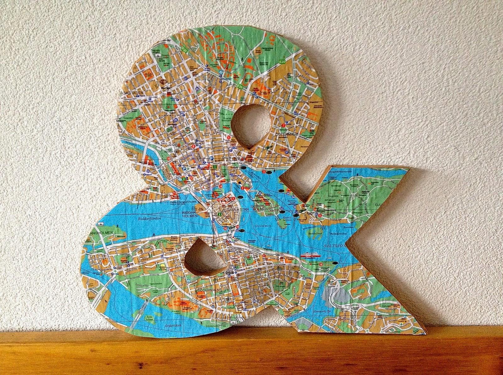 Esperluette avec plan de ville diy map ampersand - Translate voulez vous coucher avec moi ...