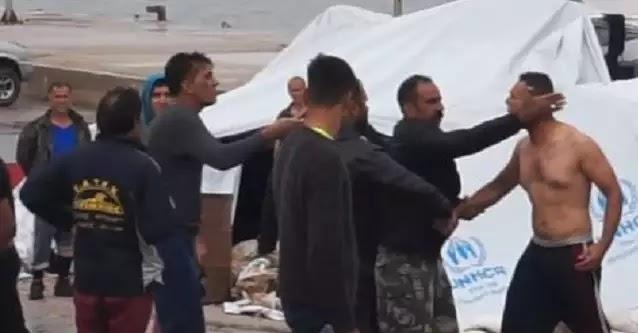 Χίος: Άγριες συμπλοκές λαθρομεταναστών με καδρόνια και μαδέρια στη Σούδα (Βίντεο)